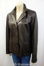 499€ NEU O.F.T. OFT leichte Lederjacke Gr.44 Lederblazer Leather Jacket Braun