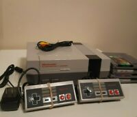 NES Nintendo console, 2 controllers, hookups, games. New 72-pin Connector.