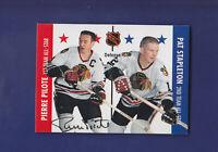 Pierre Pilote HOF **Autograph** 1995-96 Parkhurst '66-67' Hockey #123