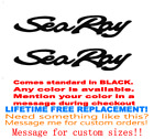 PAIR OF 12 inch long SEA RAY BOAT HULL DECALS. MARINE GRD YOUR COLOR CHOICE 003