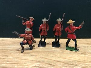 Crescent: Royal Canadian Mounted Policemen. 54mm Metal Models. c1950s
