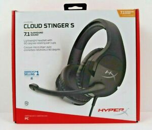 HyperX - Cloud Stinger S 7.1 Surround Sound Wired Gaming Headset for PC - Black