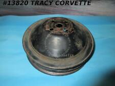 1962-1968 Corvette Water Pump Pulley w/Spacer GM# 3770245 Sp Hi Perf *Survivor*