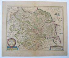 Yorkshire: antique map by Jan Jansson, 1636