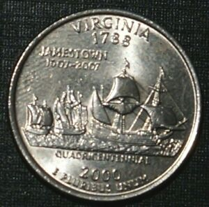 Quarter Dollar 2000-D Virginia UNITED STATES (860A)