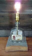 Captain Morgan Private Stock rum bottle bar lamp light on white ash wooden base