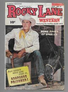 Rocky Lane Western #51 Fawcett 1953 Golden Age Western Comic Book
