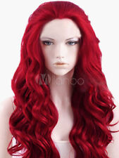 Spiral Curls Halloween Wig In Dark Red Wig Lace Front Wig Synthetic Hair