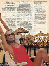 1977 Print Ad of Braniff's Mexico Beyond the Expected Acapulco