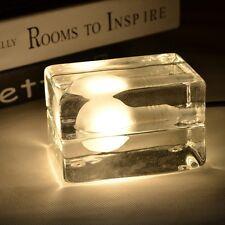 Low Power Iced Cube Lamp Designer Glass Desk Table Bar G9 Fitting LED / Halogen