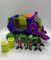 Imaginext DC Super Friends Joker Fisher Price 6 wheel rover hauler lot Batman Fg