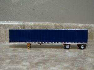 DCP 1/64 Blue Purple Chrome Utility Dry Goods Spread Axle Trailer Farm Toy