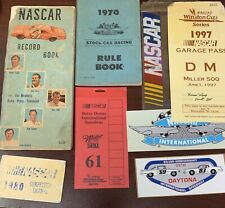 1971 NASCAR Record Book, 1970 NASCAR Rule Book And Winston Cup Garage Pass