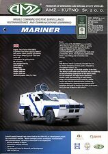 AMZ Mariner catalogue brochure military mobile command vehicle