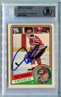 DEVILS PAT VERBEEK signed autographed 1984-85 OPC ROOKIE CARD RC BECKETT (BAS)