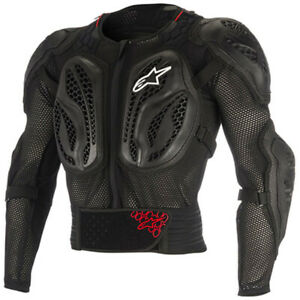ALPINESTARS BIONIC ACTION BLACK/RED BODY ARMOUR JACKET LARGE AS650681801360
