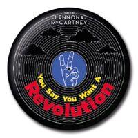"""The Beatles Walking 25mm 1/"""" Pin Badge Iconic Lennon McCartney Ringo Band"""