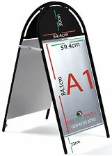 Booster A1 Pavement Shop Sign Board, Outdoor/Indoor, Metal Made, Wind Resistant