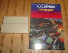 Moon Nine Game Cartridge & Books Texas Instruments TI-99/4A PHM 3131 w/Speech