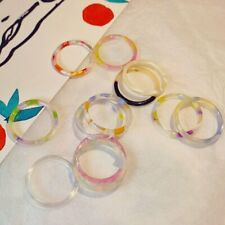2020 Chic Colorful Transparent Resin Acrylic Rings Hot Women Party Jewelry Ring