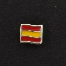 Abalorio charm plata. Bandera de España. Válido para todas las marcas.