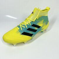 Adidas Predator Flare (SG) Rubgy Boots UK10 Hi-Res Yellow Lightweight (1220)