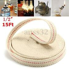 1/2'' 15 Foot White Flat Cotton Alcohol Wick For Glass Oil Lamps and Lanterns