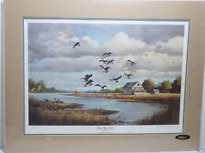 "Ducks Unlimited KEN SMALLWOOD ""Back Bay Farm"" 1987 Artist Signed # 3319/4500 Mat"