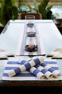 RANS Alfresco Striped Table Runner 100% Cotton