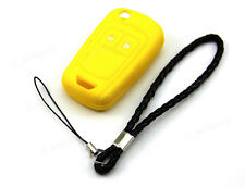 Yellow Silicone Case Cover For Chevrolet Sonic 2 Buttons Remote Flip Key CHE2YE