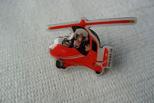A great POSTMAN PAT + HELICOPTER character pin lapel badge,free u.k.p&p