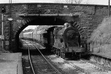 PHOTO  STEAM TRAIN AT BANGOR WEST RAILWAY STATION 1986