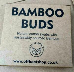 200 x Bamboo Cotton Buds Biodegradable Vegan Eco Friendly Organic Ear bud Swabs