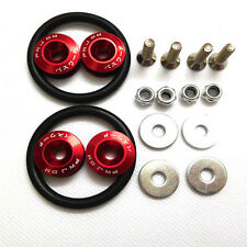 1 Set Red JDM Universal Quick Release Fasteners Kit Fit For Bumper & Trunk Hatch
