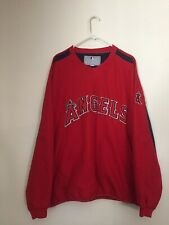 LA Angels Majestic Men Sweatshirt Long Sleeve Pullover XL Graphic Crew Red Used