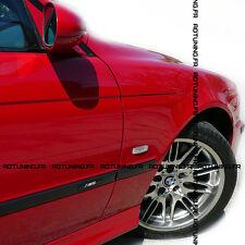 6 BAGUETTES DE PORTES M5 + CLIPS BMW SERIE 5 E39 1995 A 2003 BERLINE ET TOURING