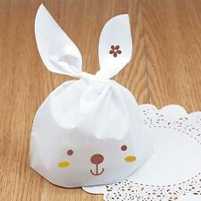 50Pcs Fashion Kawaii Rabbit Style Plastic Bags Birthday Items Candy Bags Party