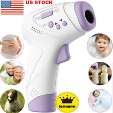 New listing Infrared Digital Forehead Thermometer Non-contact Temperature Gun Baby Adult Usa