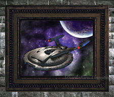 Enterprise NXO1 - Star Trek Fan - Luster Finish Original Art Print - Darkstar