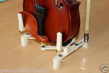 soporte violín titular Violin Stand Light Stead Foldable Adjust  white color