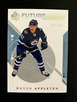 2018-19 SP Authentic #237 Mason Appleton FW RC