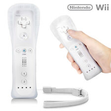 UK NEW WHITE REMOTE CONTROLLER FOR NINTENDO WII & WII U + SILICONE + STRAP