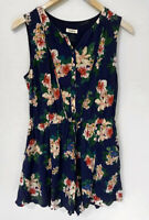 MARCS Beautiful floral Button Front Side Pocket Playsuit Romper Size 10