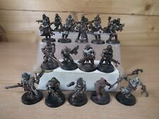 7 PLASTIC WARHAMMER CHAOS CULTISTS FROM DARK VENGEANCE PAINTED (132)