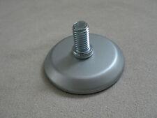 Piedino per mobili piastra girevole 3cm.gewinde M10 alluminio argento
