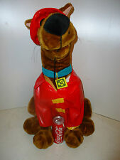"""Lg 23"""" Scooby Doo Stuffed Toy in Red Detective Coat & Hat- Clean, Ex Cond!"""