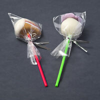 """100 x Clear Cello Cellophane Poly Bags 4.5"""" x 7"""" for Lollipops Sweets Cake Pops"""