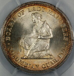 1893 Isabella Silver Quarter, PCGS MS-64 *Gem BU Commemorative Coin*