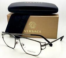 New Classic VERSACE Eyeglasses VE 1257 1351 55-15 140 Matte Gunmetal Frames