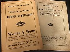 1917 WALTER A WOOD HARVESTER CO Sales Catalog Reaping Rakes Price List Lot of 2